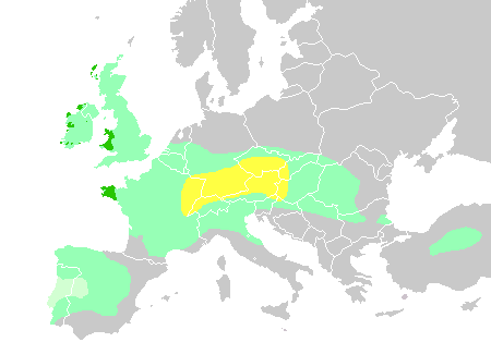 Maximum expansion of Celtic peoples across Europe.