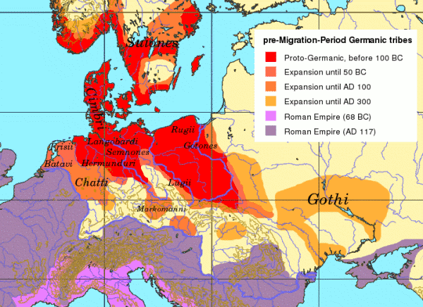 Expansion of Germanic Tribes