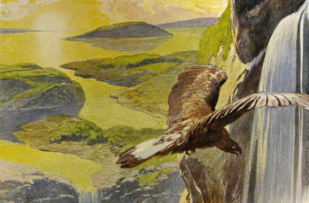 Depiction of the world after Ragnarok.