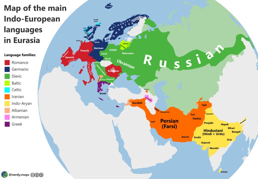 Indo-European languages in Eurasia