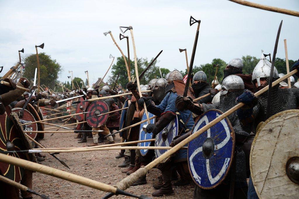 Re-enactment of a Viking Battle