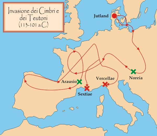 Migration Cimbri Teutons