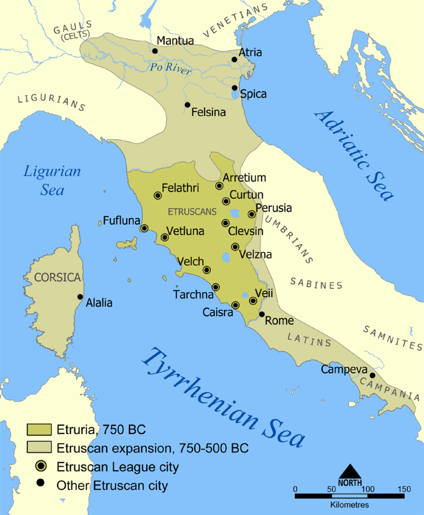 Distribution of the Etruscan Civilization.