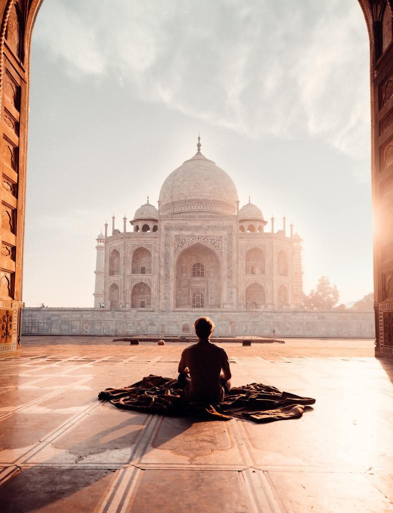 Taj Mahal meditating