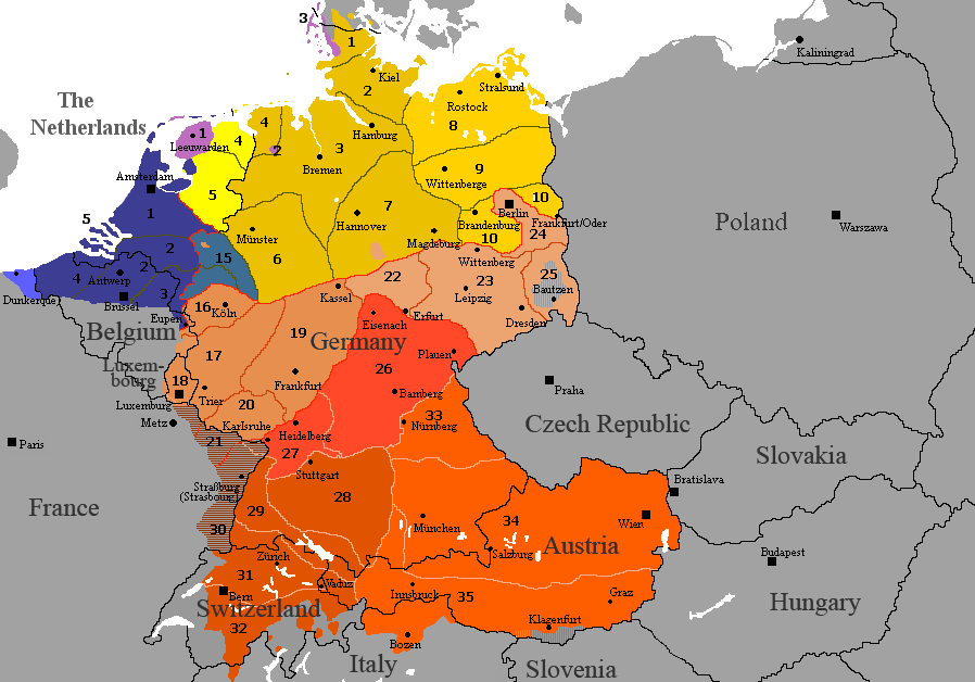 German Dialects after WW2